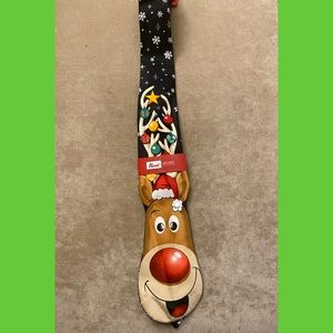 New holiday Christmas New Years reindeer neck tie
